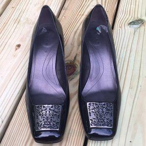 Women's Tahari Black Patent Leather Heels Size 8M